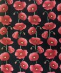 POPPY FLOWERS - Floral Fabric - Poppies Material 100% Cotton - Price Per Metre